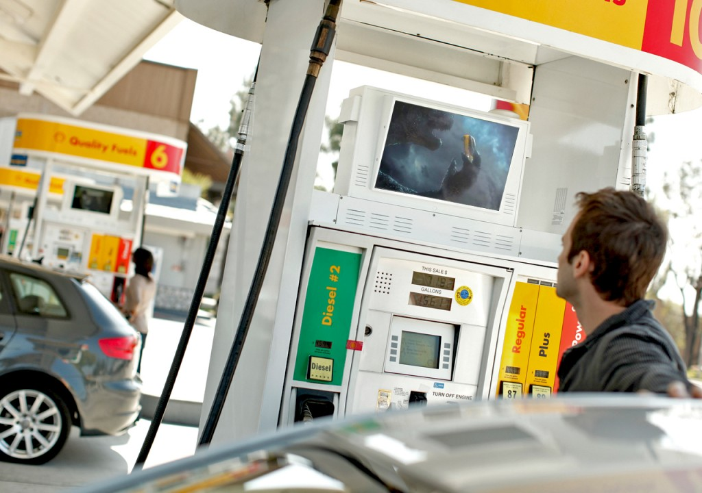 Running an advertising campaign on fuel pumps